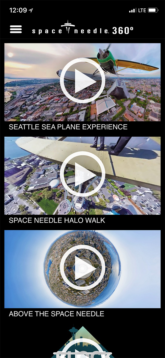 Space Needle 360 App Screen Shot